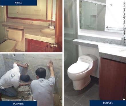 Proyectos Remodelación: Baños de estilo moderno por Nosotros Remodelamos