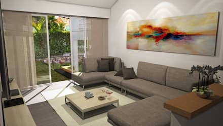 Casa Mirador de la Umbria: Salas de estilo moderno por Spatium Arquitectura