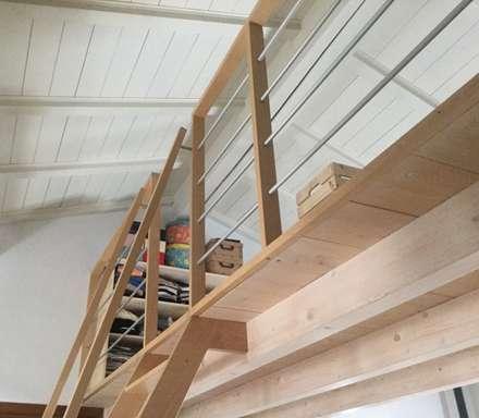 Ristrutturazione loft: Spogliatoio in stile  di Contesini Studio & Bottega