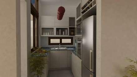 REMODELACION Y AMPLIACION PH BARRACAS, C.A.B.A: Cocinas de estilo moderno por Arquitecta MORIELLO