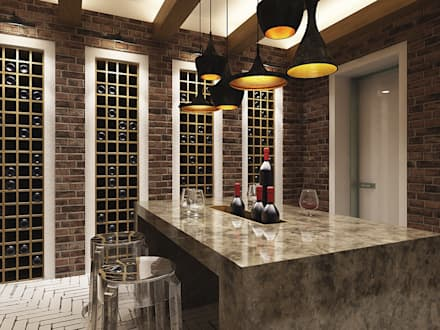 minimalistic Wine cellar by A-partmentdesign studio