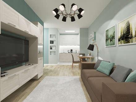 Визуализация: квартира в Петербурге : Гостиная в . Автор – OK Interior Design
