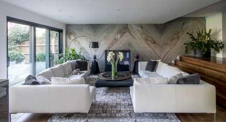 House in Putney: eclectic Living room by EVGENY BELYAEV DESIGN