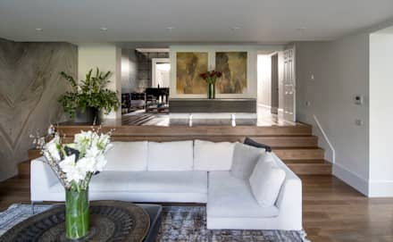 رہنے کا کمرہ  by EVGENY BELYAEV DESIGN