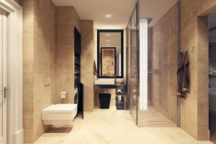 Мебельная улица: Ванные комнаты в . Автор – Дарья Баранович Дизайн Интерьера