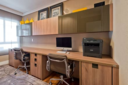 modern Study/office by VL Arquitetura e Interiores