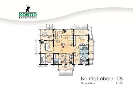 Holz-Wohlfühlhauses Kontio Modell Lobelia: skandinavische Häuser von Woody-Holzhaus - Kontio