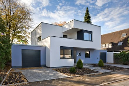 Moderne h user innen for Doppelhaus moderne architektur
