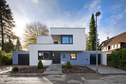 Hausbau architektur homify for Modernes haus viel glas