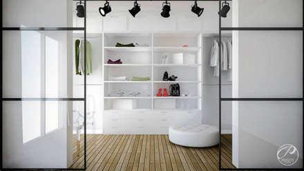 modern Dressing room by Progetti Architektura