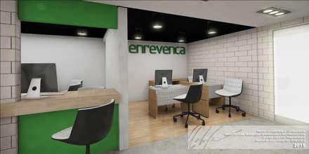 ATENCION AL CLIENTE: Oficinas y Tiendas de estilo  por Arq.AngelMedina+