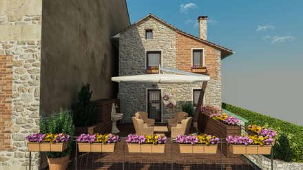Balcone veranda terrazza in stile rurale homify for Piani di casa in stile country di collina