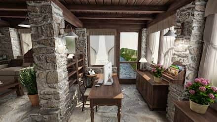 Casa in Collina: Studio in stile In stile Country di studiosagitair