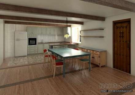 Kitchen: Hoteles de estilo  de mm-3d