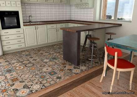 Kitchen details: Hoteles de estilo  de mm-3d