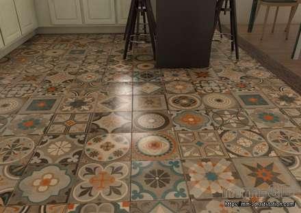 Kitchen. Floor detail: Hoteles de estilo  de mm-3d