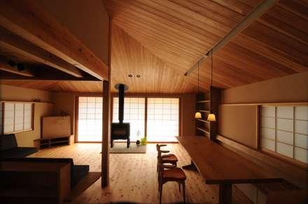 リビング: 加藤武志建築設計室が手掛けたリビングです。