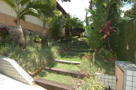 Casa Palmeira Azul: Jardins modernos por Emmilia Cardoso Designers Associados
