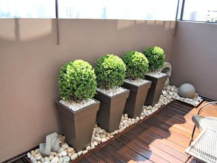 Hiên, sân thượng by Paty Nascimento Designer de Interiores e Paisagista