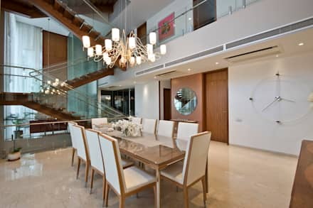 Private Residence, Koregaon Park, Pune: modern Dining room by Chaney Architects