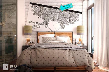 Scandinavian flat: Спальни в . Автор – GM-interior