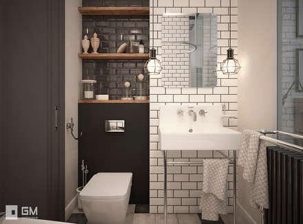 Scandinavian flat: Ванные комнаты в . Автор – GM-interior