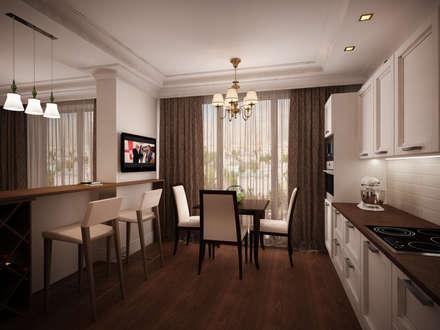 Двухкомнатная квартира в ЖК Ньютон: Кухни в . Автор – дизайн-бюро ARTTUNDRA
