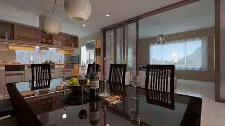 minimalistic Dining room by Arquitecto Manuel Daniel Vilte