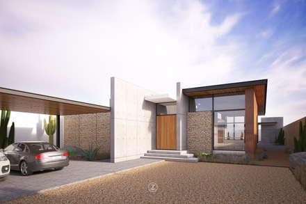 Casa 0316.: Casas de estilo moderno por Lozano Arquitectos