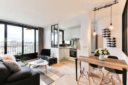 Little Loft Boulogne 43m²: Salon de style de style Industriel par La Decorruptible