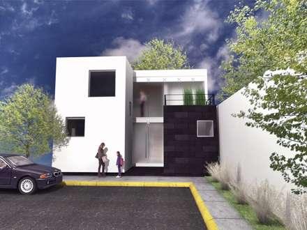 CaSA LINDA VISTA Design Process: Casas de estilo moderno por CoRREA Arquitectos