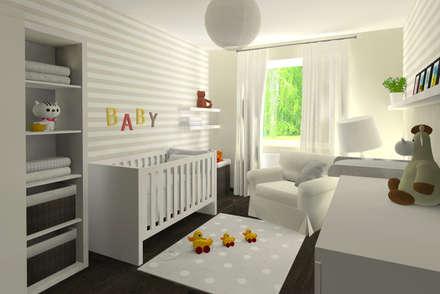 Pokój dla niemowlaka: styl , w kategorii Pokój dziecięcy zaprojektowany przez EMMSTUDIO Magdalena Muszytowska