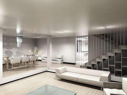 CaSA CC3 Design Process: Salas de estilo moderno por CoRREA Arquitectos