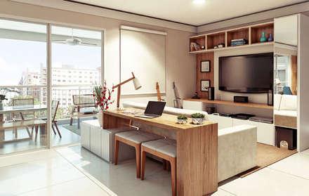 Apartamento em  Campinas: Salas de estar modernas por Alessandra Duque Arquitetura & Interiores