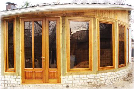 Деревянные двери: Окна в . Автор – Столярная мастерская Михаила Дибцева