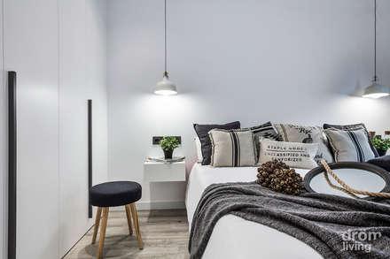 CASA EN LLÍVIA: MINIMALISMO Y CALIDEZ: Dormitorios de estilo minimalista de Dröm Living