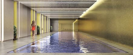 London Dock: classic Pool by Aqua Platinum Projects