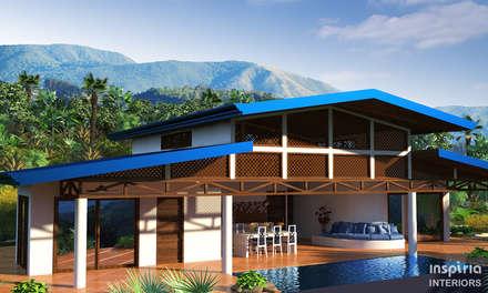 Ocean View House Design, Costa Rica: tropical Houses by Inspiria Interiors