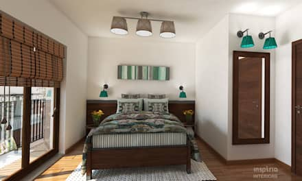Country style Interior for an appartment bedroom: country Bedroom by Inspiria Interiors