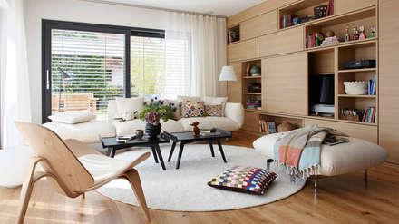 SCHÖNER WOHNEN Haus Wohnbereich: Moderne Wohnzimmer Von SchwörerHaus