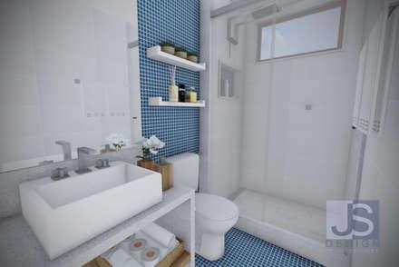 Estudo Casa Itaipu: Banheiros modernos por JS Interiores