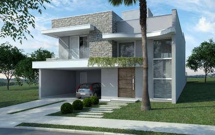 Reinaldo Jacon Arquitetura – Casa RB: Casas modernas por Reinaldo Jacon Arquitetura