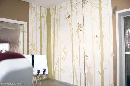 Ambiente in der Praxis:  Geschäftsräume & Stores von  Wandgestaltung Graffiti Airbrush von Appolloart