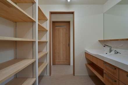 千里の家: bUd アトリエ一級建築士事務所が手掛けた浴室です。
