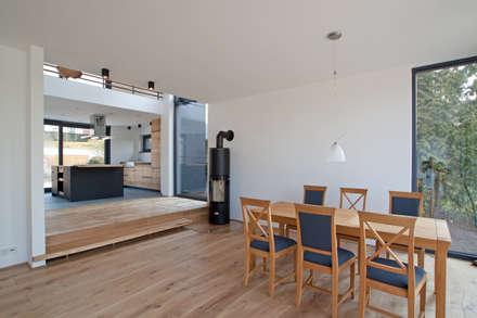 Essbereich Mit Kamin: Moderne Esszimmer Von SIGRUN GERST ARCHITEKTUR
