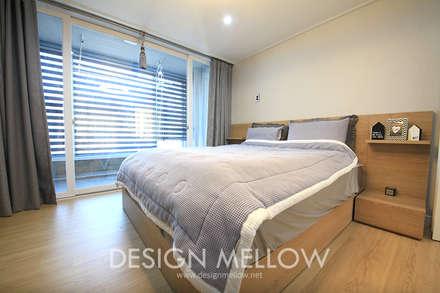 로망이 담긴 34평 아파트 인테리어: 디자인 멜로 (design mellow)의  침실