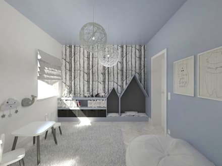Projekt pokoju dla małego chłopca: styl , w kategorii Pokój dziecięcy zaprojektowany przez HATCH studio