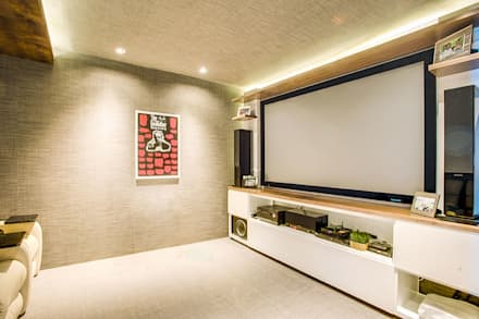modern Media room by art.chitecture
