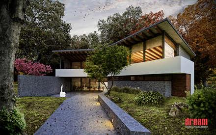 CASA CZN - VISTA PRINCIPAL: Casas de estilo rural por Dream Arquitectura & Diseño