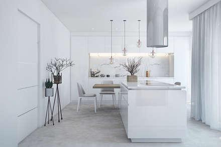 COZINHA: Cozinhas modernas por DZINE & CO, Arquitectura e Design de Interiores